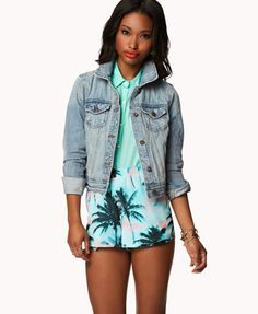 Faded Denim Jacket | FOREVER 21 - 2027704526