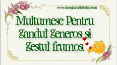 Multumesc pentru gandul generos si gestul frumos. Motto, Congratulations, Happy Birthday, Letters, Motivation, My Love, Anniversary, Frame, Floral