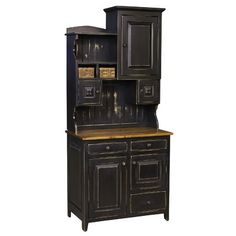 A variety of cabinets and shelves lend organizational appeal to the Chelsea Home Furniture Little Annies Buffet with Hutch . This sturdy pine hutch. White Dining Room Furniture, Hutch Furniture, Country Furniture, Kitchen Furniture, Cool Furniture, Modern Furniture, Luxury Furniture, Furniture Ideas, Pine Furniture