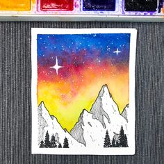 Watercolour Painting, Diy Painting, Watercolor Bookmarks, Oil Pastel Drawings, Abstract Line Art, Canvas Ideas, Art Sketchbook, Silhouettes, Haikyuu