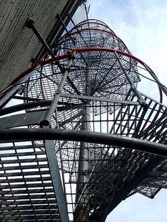 Saka observation tower,spiral stair, Estonia