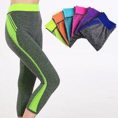 Nuevo estilo de las mujeres pantalones capri leggings pantalones de yoga yoga gimnasio de cintura alta de caramelo sólido ropa de fitness correr deporte leggings strech