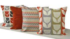 Der Kissenbezug im skandinavischen Design lässt sich perfekt zu einem Rollo…