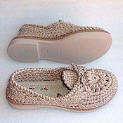 Бабуши вязаные, зеленый, хлопок, р.39 – купить или заказать в интернет-магазине на Ярмарке Мастеров | Бабуши- это туфли родом из Персии. Первоначально…