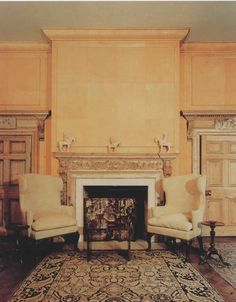 Blandings: The Significance of Petty Details Library Fireplace, Antique Fireplace Mantels, Interior Paint, Interior Design, English Manor Houses, Lake Forest, Classic Interior, Formal Living Rooms, Upholstered Chairs