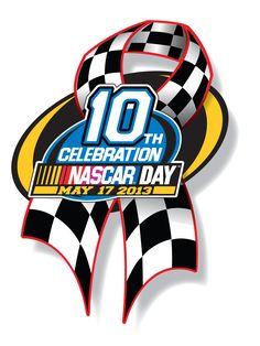 10th Annual NASCAR Day Logo. CLICK to purchase your 2013 NASCAR Day pin!  #NASCARDay