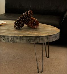 Have come to the conclusion I need a circular coffee table. Love hairpin legs!