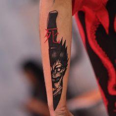 Deathnote Ryuk Tattoo by@ruddeluca @satatttvision