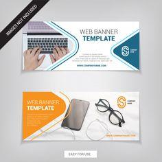 easy for use. Web Banner Design, Banner Images, Banner Template, Website, Header, Adobe Illustrator, Banners, Vectors, Graphics