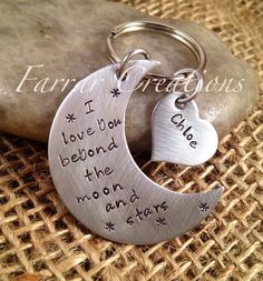 Personalized Key Chain  Gift for Dad Gift for by FarrarCreations, $35.00