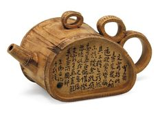 teapot that doesn't need expensive firing to be made! Bamboo