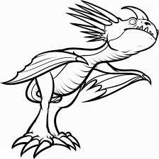 Wild Deadly Nadder Dragon Coloring Page How Train Your Dragon