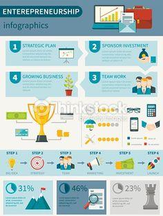 Vector Art : Entrepreneurship Infographics Poster