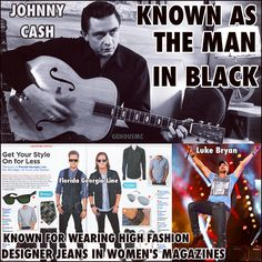 Johnny Cash the man in Black‼️ Florida Georgia Line...wears a man ban...you are not real Country‼️