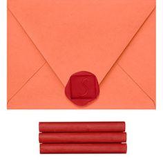 Red Sealing Wax.... In a glue gun! paper source. I <3 you!