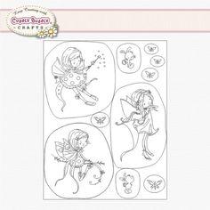Pergamano Clear Stamp Set - Fairies 1 #41903