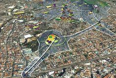 Gondola Mass Transit in Rio. Line capacity of 3,000 people per hour per direction.