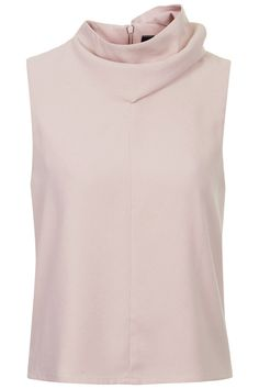 Crepe Funnel Neck Top by Boutique
