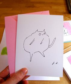 The Dancing Cat Cards by jamieshelman on Etsy, $9.00