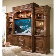 Nice color wood for entertainment center