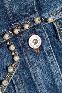 Blue denim Button fastenings through front 100% cotton Dry clean Made in Italy