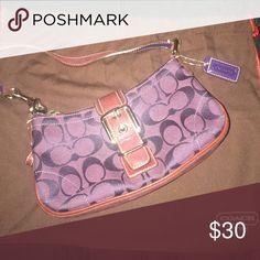 Coach Mini Handbag REAL Coach handbag, old school style, purple and used once Coach Bags Mini Bags