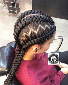 31 Best Ghana Braids Hairstyles Page 2 Of 3 How to Style Of Zig Zag … – Trend Frisuren Ghana Braids Hairstyles, Cool Braid Hairstyles, Braided Hairstyles For Wedding, Hairstyles 2018, Black Hairstyles, Ladies Hairstyles, Teenage Hairstyles, Beautiful Hairstyles, Bridal Hairstyles