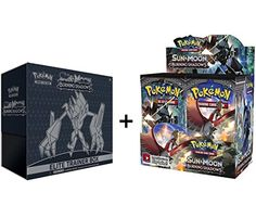 Pokemon TCG: Sun & Moon Burning Shadows Booster Box & Elite Trainer Box  You will receive the Sun & Moon Burning Shadows Booster Box and Elite Trainer!  Elite Trainer includes: 8 Burning Shadows booster packs, 65 card sleeves featuring Necrozma, 45 Energy cards, A player's guide, 1 acrylic GX marker, A collector's box with 4 dividers, A code card for the Pokemon Trading Card Game Online!  6 damage-counter dice, Competition-legal coin-flip die, 2 acrylic condition markers,  What strange...