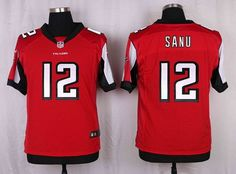 Men's Atlanta Falcons #12 Mohamed Sanu Red Team Color NFL Nike Elite Jersey