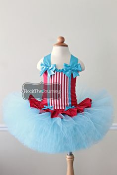 Red Turquoise Carnival Baby Big Top Circus Tutu by RockTheJourney