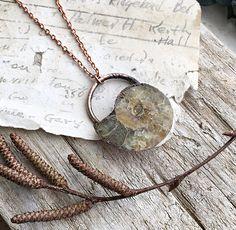 Ammonite Electroformed Pendant Necklace
