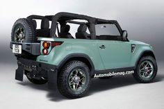 2019 Land Rover Defender Illustration Rear Three Quarter - Provided by Automobile Land Rover Defender Pickup, New Defender, Landrover Defender, Lifted Ford Trucks, Pickup Trucks, Automobile, Land Rover Models, Jeep Wrangler, Convertible