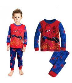 11408f903 Pijama do Homem Aranha duas Peças Manga Comprida Duas Peças