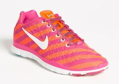 "Pink & Orange ""Free TR Fit 3 Print"" Nike Training Shoe"
