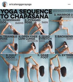 Yoga sequence to chapasana
