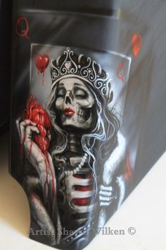 king of hearts card tattoo King Of Hearts Tattoo, King Of Hearts Card, Ace Of Spades Tattoo, Spade Tattoo, Card Tattoo, Tattoo Art, Pokerface, Queen Tattoo, Day Of The Dead Skull
