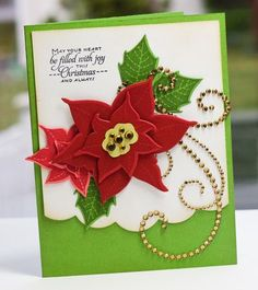 Poinsettia card by Lisa Johnson for Papertrey Ink (November 2011).