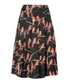 Great Plains bird print skirt