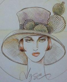Millinery sketch by Vyse