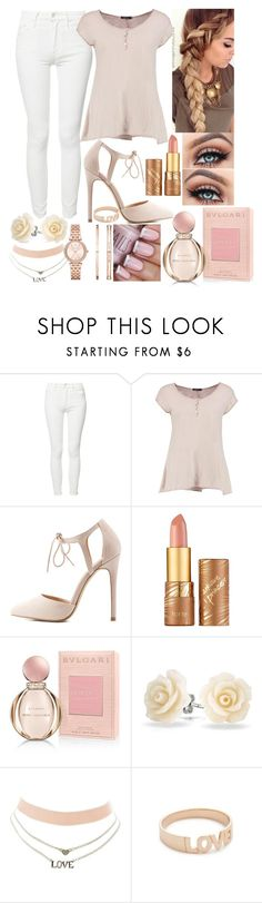 """""""The beautiful you"""" by karressguidycapers ❤ liked on Polyvore featuring Mother, Boohoo, Charlotte Russe, tarte, Bulgari, Bling Jewelry, Kismet by Milka and Michael Kors"""