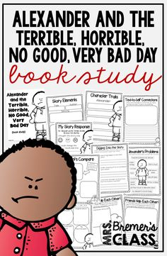 Book study companion activities to go with the book Alexander and the Terrible, Horrible, No Good, Very Bad Day.