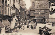 Paris 5e/6e La foule de la rue Mouffetard vers 1900