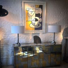 Pop art + Paul Evans cabinet