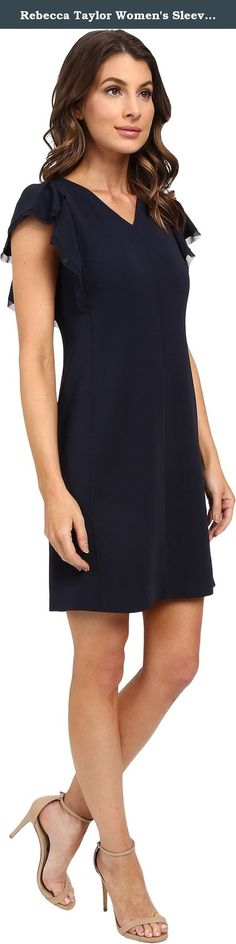 Rebecca Taylor Women's Sleeveless Ruffle Dress Navy Dress. Rebecca Taylor Size Chart Cascading ruffles create a delicate look to this Rebecca Taylor™ dress. Lightweight dress with luxurious silk overlay. V-neckline. Short sleeve design. Back zip closure. Straight hemline. Fully lined. Shell: 97% viscose, 3% elastane;Combo: 100% silk;Lining: 100% polyeste. Dry clean only. Imported. Measurements: Length: 35 in Product measurements were taken using size 2. Please note that measurements may…