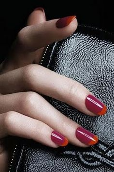 modern french manicure. love these two colors together.