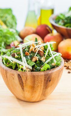Winter Greens and Walnut Salad-Vegan