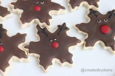 You can make these Snowflake Cookies 3 ways including Red Velvet Snowflake, Reindeer or Snowman.  Enjoy!