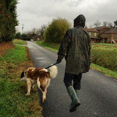 Today we walked Daisy in the rain - it poured just after this, my knees got so wet! #upsticksandgo #daisy #stbernard #StNicolasDeLaGrave #rain #walkingthedog #france #travelgram #travellingtheworld #michfrost #petsitting