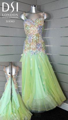 Erin Boag peppermint ballroom dress
