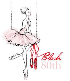 Illustration for Bloch's Red Pointe Shoe Project by Megan Hess http://meganhess.com/